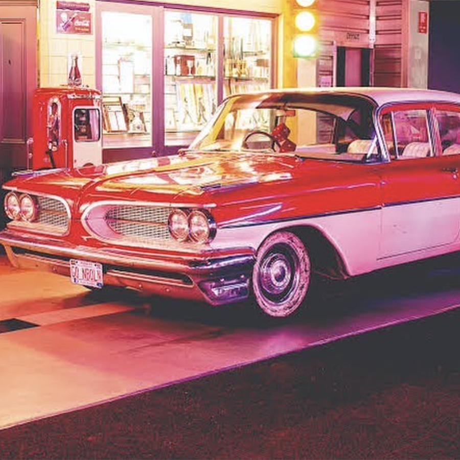 The Pontiac retro car