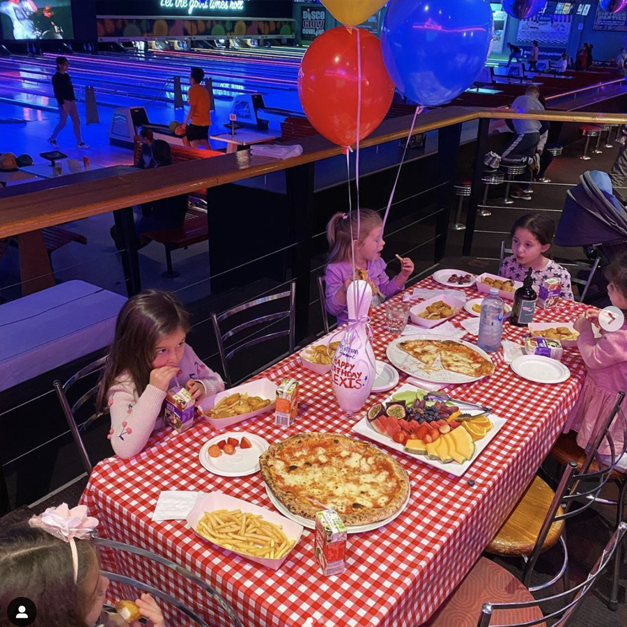 Kids party at diner table